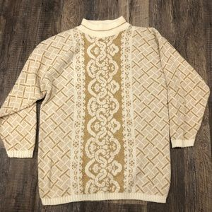 Dana Scott Vintage Mock Neck Knit Sweater